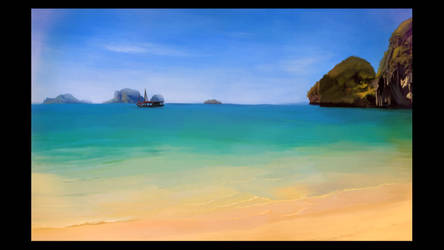 Beach Speed Painting by Mel13