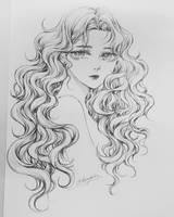 [Sketch] Dream girl by bizzybiin