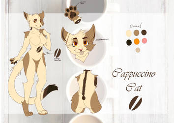 Cappuccino Cat ( Adoptable-Open) by Creepymarty2