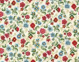 Vibrant Blue Multi Large and Small Floral Print by Five5Cats