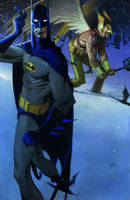 Batman and hawkman. by Andrew-Robinson