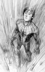 spiderman feelin the rain by Andrew-Robinson