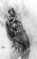Guy Gardner pencil sketch by Andrew-Robinson