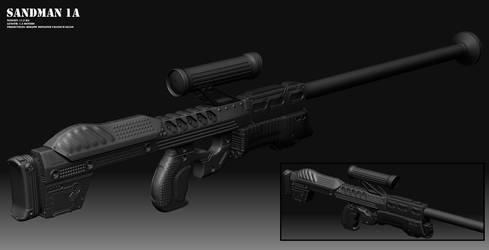 Sandman 1A - sniper rifle by altermind