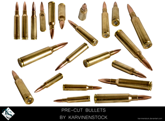 Bullets (Pre-cut Stock) by KarvinenStock