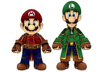 Mario and Luigi by CosmicThunder