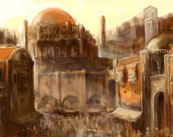 Athkatla - Dome of the Rose by ElmUnderleaf