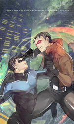 Dick Grayson and Jason Todd by fish-ghost