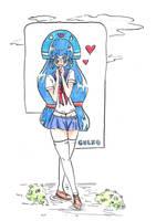 Gluko as a Schoolgirl by DraxDrilox