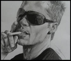 Portrait of Brad Pitt by Monkey-Jack