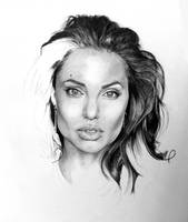 Protrait of Angelina Jolie by Monkey-Jack