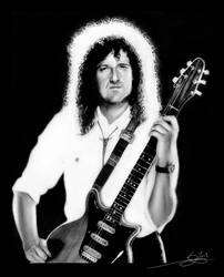 Brian May : Guitar Hero by Monkey-Jack