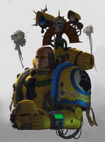 Imperial Fist Master of Rites by phiq