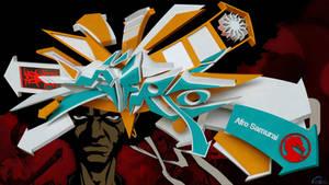 Afro Samurai 3d graffiti by anhpham88