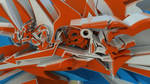 Close Zoom 3d graffiti Music by anhpham88