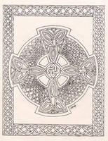 Celtic Faith - line art by merlynhawk