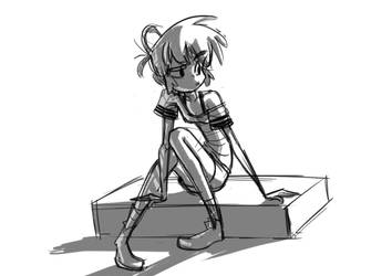 Short Haired Gal by chromasketch