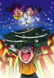 Happy Holidays 2016 by chromasketch