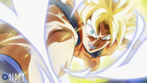 Goku's attack (Ssj1 version) by RenanFNA