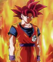 Goku Ssj God by RenanFNA