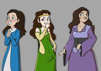 Jeyne, Margaery, Myranda by mandyjeanb