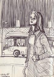 Bus Girl by la-Structure-du-Ciel