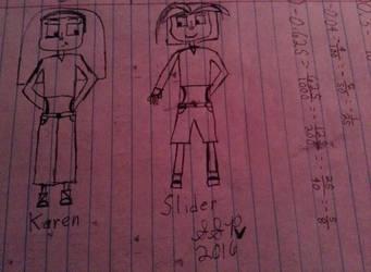 Karen and Slider by SilverShadowPheonix