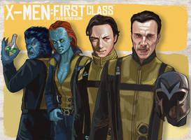 X-MEN First Class by rocketraygun