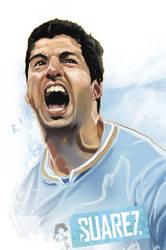 Luis Suarez by rocketraygun