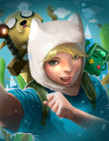 Finn Adventure Time by rocketraygun