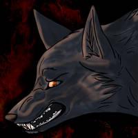 Dark Fire Wolf by xxDark-Wolfxx
