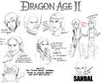 Dragon Age II Sketch Dump by lubyelfears