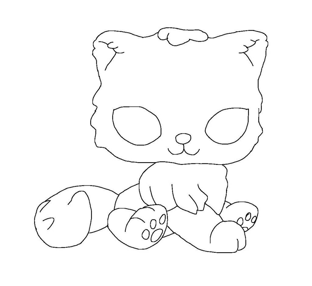 lps coloring pages dachshund | Lps: Persians cat base by SilverHeartthewarrio on DeviantArt