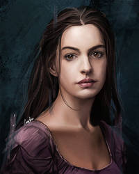 Anne Hathaway Les Miserables by CansuAkn