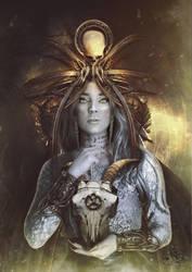 The Sorceress - La hechicera by Quijuka