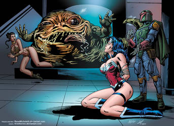 Wonder Woman and Jabba by Rene Micheletti by Kristherion