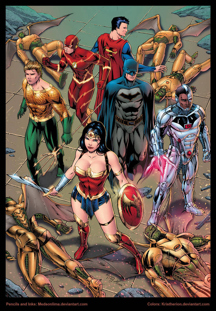 Justice League of America by Medson Lima by Kristherion