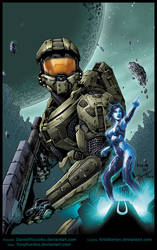 Master Chief by Picci8 and Tony Kordos by Kristherion