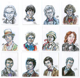 Doctor Who Sketch Cards by SmilinJack