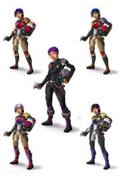The Many Styles of Sabine Wren by SmilinJack