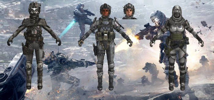 IMC Female Pilots from Titanfall for XPS by Melllin