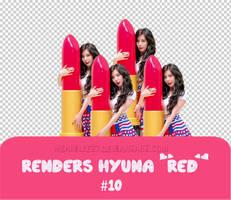 [Request] Renders Hyuna Red #10 by mearilee27