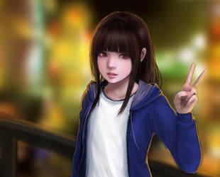 Jacket Girl by Jyune23