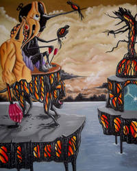 the fool and the ocean of dead birds by artbyaliz