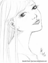 Calm Grace - rough sketch by Shiroimiko