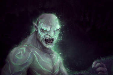 Azog is reborn in the land of the dead - Fan art by uAll