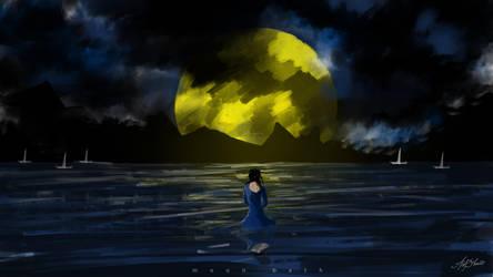 Moon Bath by asifshuvo