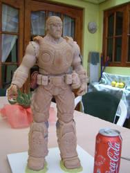 Marcus Fenix sculpture Gears of War by sanyaca