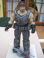 Marcus fenix sculpture almost done by sanyaca