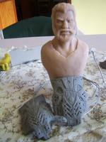 Dom gears of war 3 sculpture progress by sanyaca
